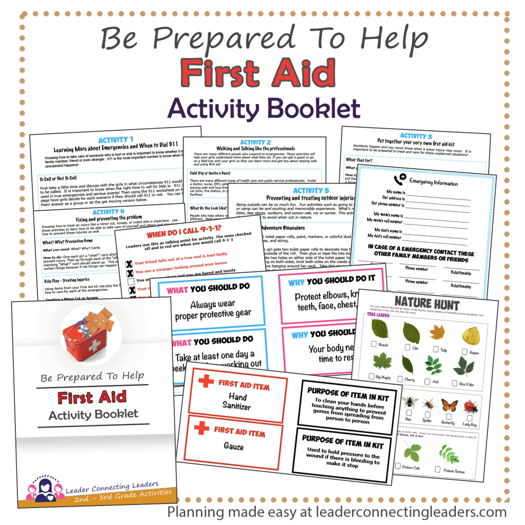 First Aid Booklet for 2nd and 3rd graders