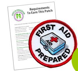 First Aid Prepared fun patch
