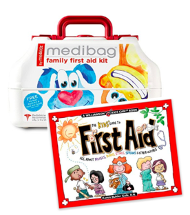 First Aid box and book