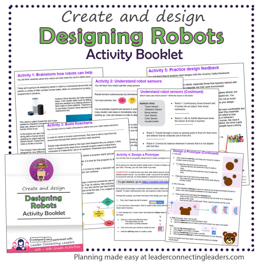 Designing Robot Booklet