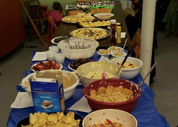 Pig Out Party Lots of Food
