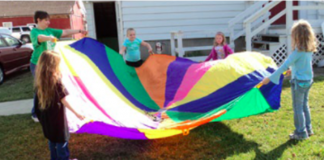 Girl Scout Parachute games
