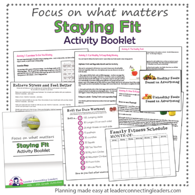 Staying Fit Activity Book Promo