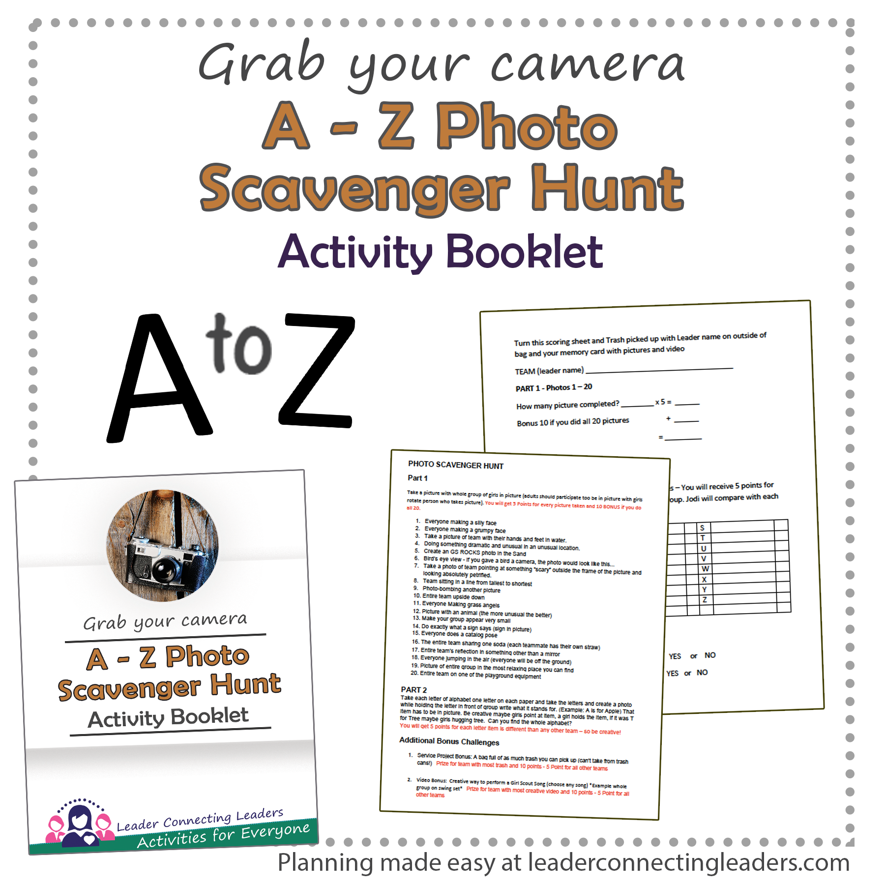 Photo Scavenger Hunt – Planned Day Event