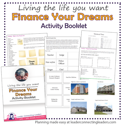 Finance your dreams activity booklet