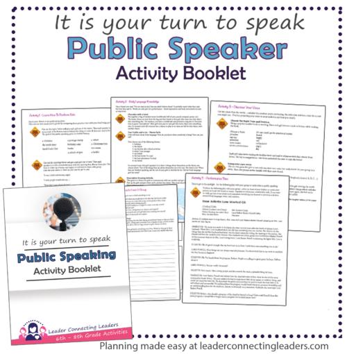 public speaker booklet