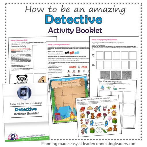 Detective Activity Booklet