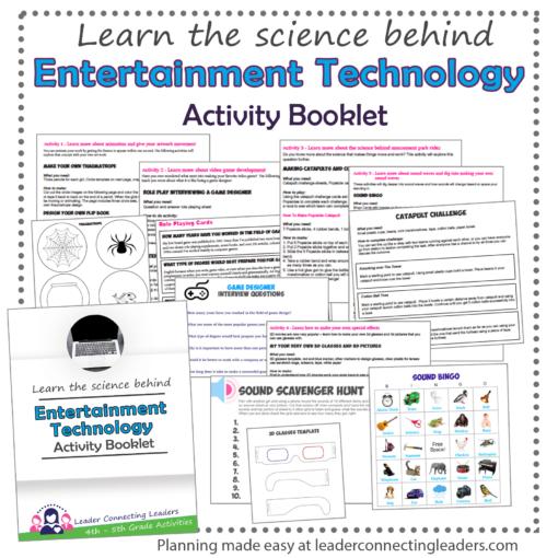 Entertainment Technology activity book