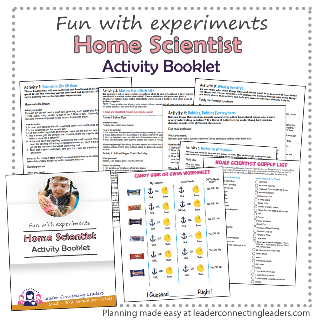 Home Scientist booklet