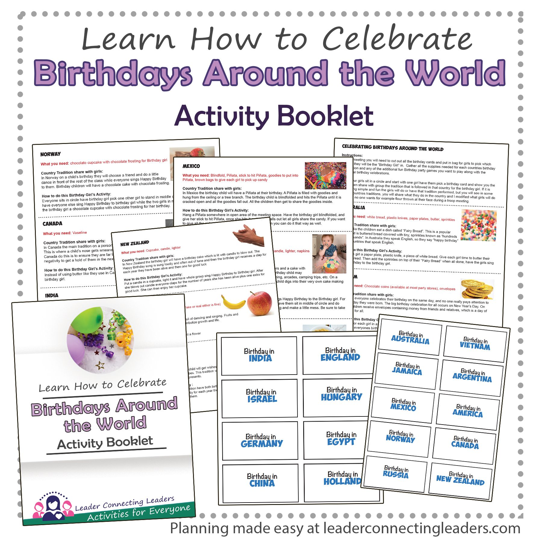 Birthdays Around the World Activity Booklet
