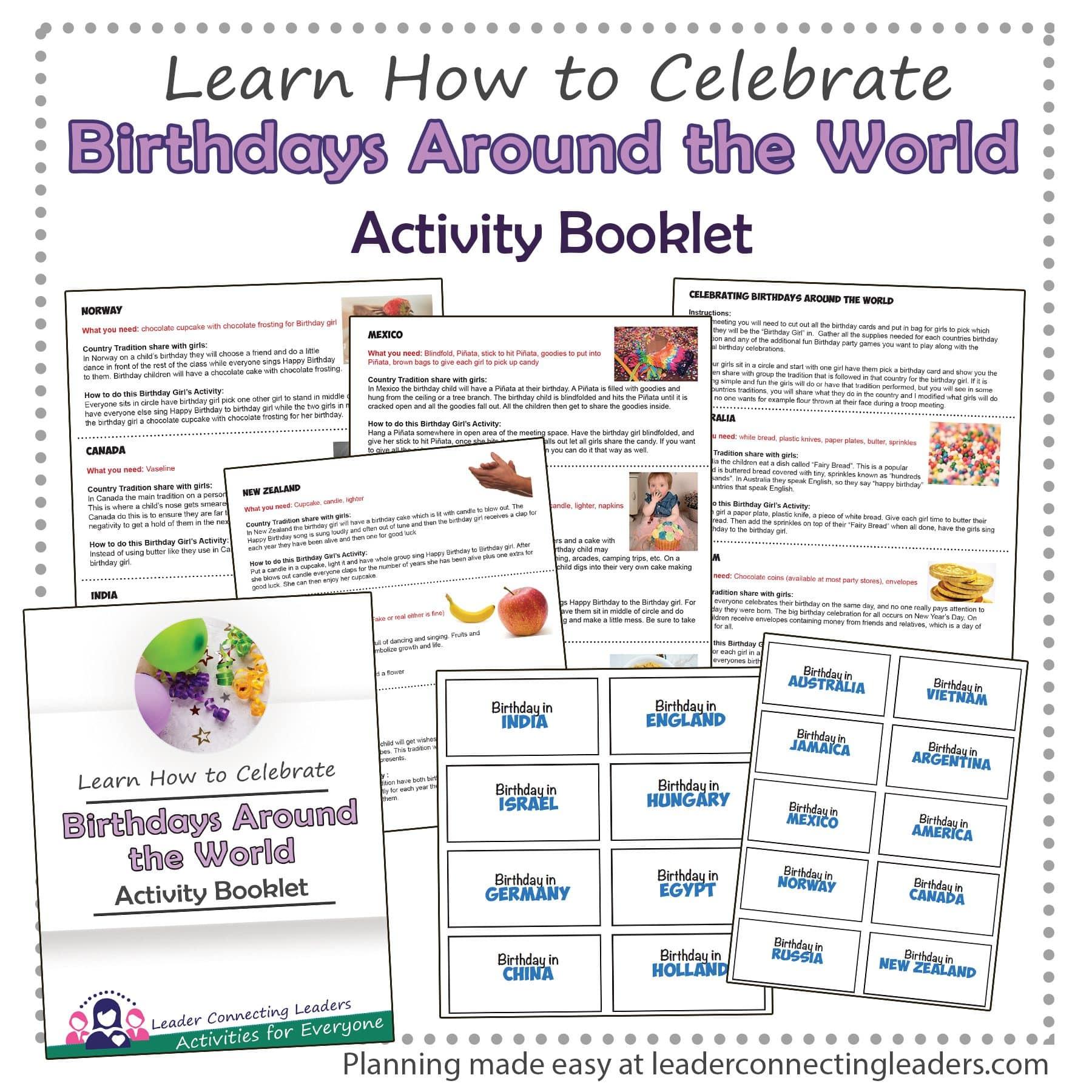 Birthdays Around the World Activity Booklet