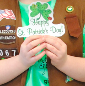 St Patrick Day Girl Scout
