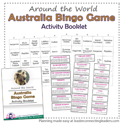 Australia Bingo Game