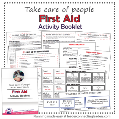 first aid activity booklet