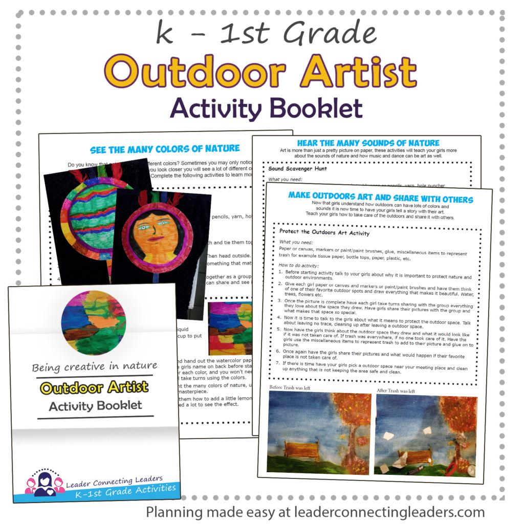 Outdoor Artist Booklet k - 1st grade