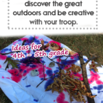 Outdoor craft with paint