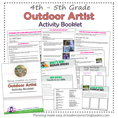 Outdoor Artist Book for 4th and 5th graders