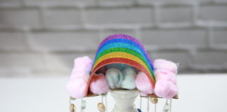 rainbow wind chime craft