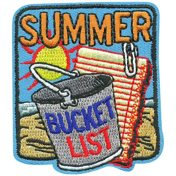 summer bucket list fun patch square