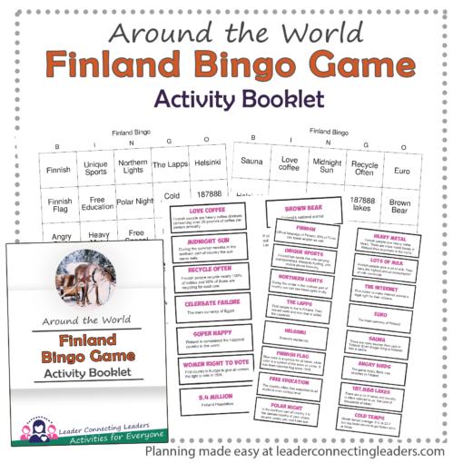 Finland Fun Fact bingo game