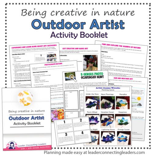OUtdoor Artist activities for 6th - 8th grade