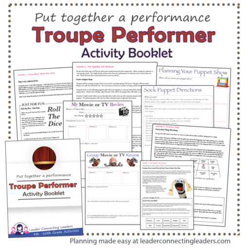 Troupe Performer Activity Booklet