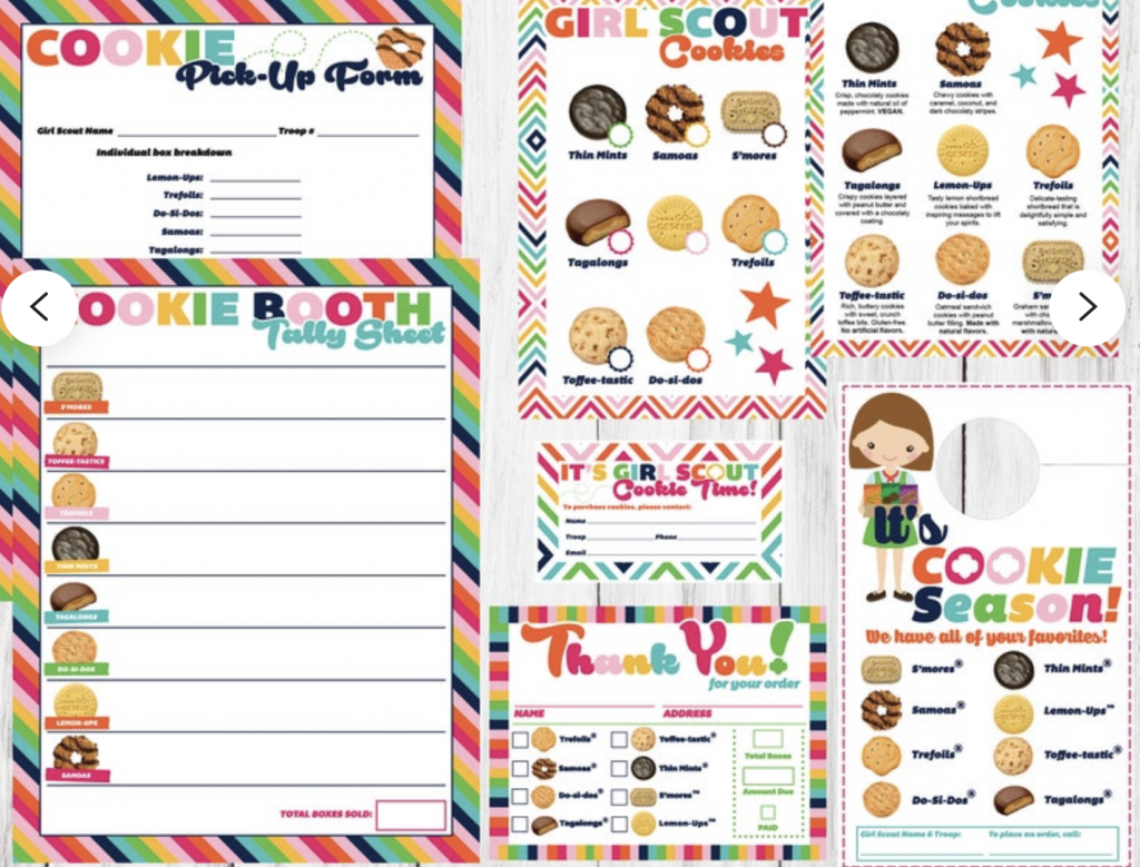 cookie booth tally sheet