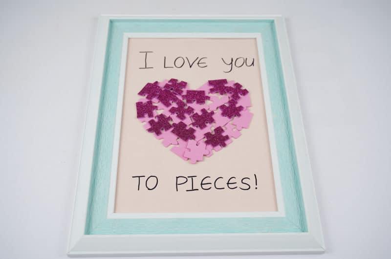 Heart Shape Valentine Puzzle Picture