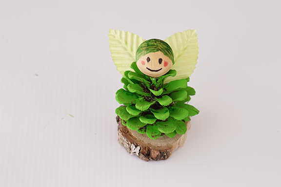 DIY Craft: How to Make a Fairy out of a Pinecone